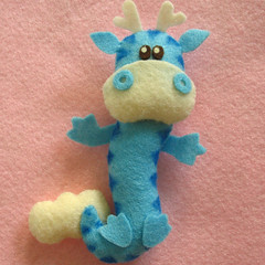 Dragon mini plush toy (Eskimimi) Tags: uk cloud animal toy stuffed dragon felt plush plushie etsy
