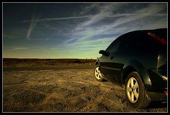 Car (andrewlee1967) Tags: uk england car sunrise landscape yorkshire zetec fordfocus saddleworthmoor andrewlee mywinners canon400d andrewlee1967 anawesomeshot focusman5