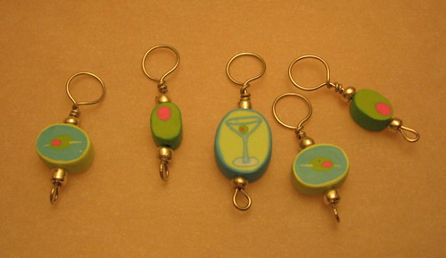 Martini stitch markers