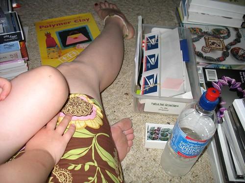 Working on the floor