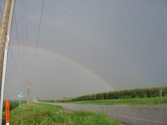 Double Rainbow! (hum97) Tags: rural rainbow cornfield ecovillage