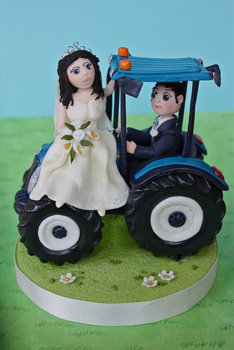 Tractor Wedding Cake Topper .....