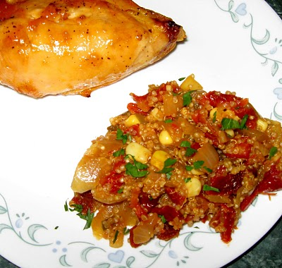 Debbi Does Dinner: Quinoa with Sundried Tomatoes and Corn