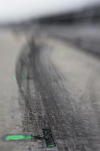 Tape in pit lane