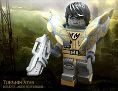 Toemhin Atan, Borderlands Scavenger (Morgan190) Tags: halloween scary lego apocalypse creepy minifig custom wasteland m19 minifigure borderlands spacepolice morgan19 jawson