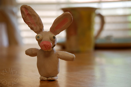 Painted little bunny