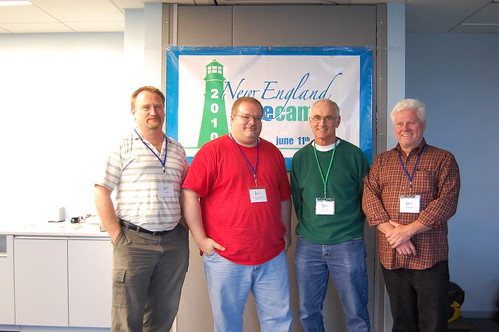 Kriss Aho, Doug Vanderweide, Chris Craig, Pat Tormey: The Goshen Land Trust team for New England GiveCamp 2010