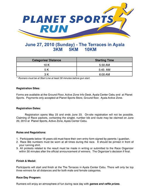 Planet Sports Run - Cebu