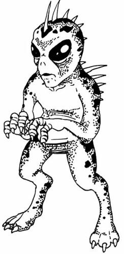Dibujo aspecto del Chupacabras