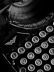 Alt Pt. III (FrankfurterZeit) Tags: old white black typewriter keys key close low continental sw schreibmaschine tasten
