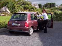 Leaving Tuar Beag in the crappy little Micra
