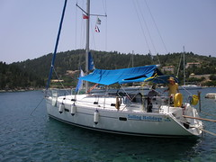Moored in Mongonisi, Paxos