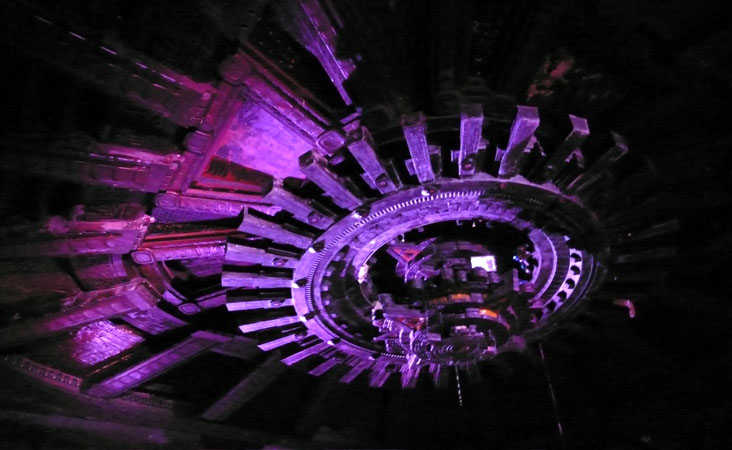 Ceiling of the Mayan theater
