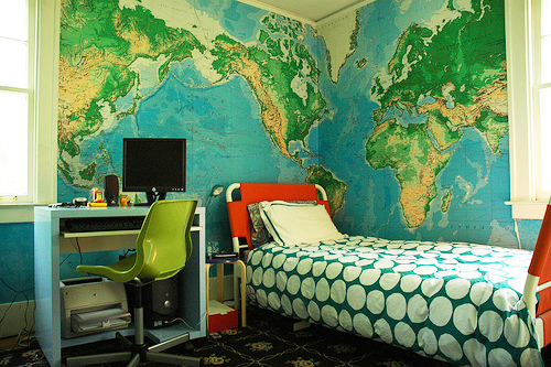 world map wallpaper mural. map wall mural found on