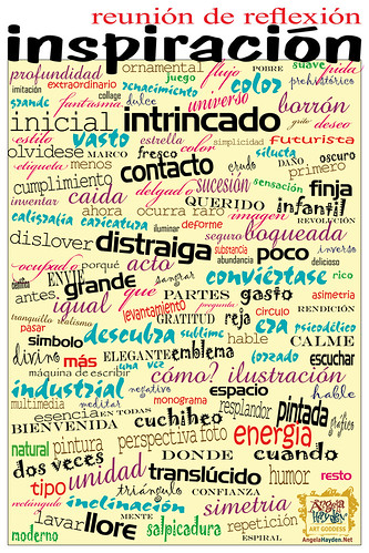 Spanish Version of Brainstorming Poster by Artist Angela Hayden by Angela Hayden ART GODDESS.
