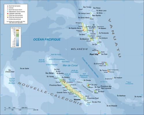 Caledonie et Vanuatu