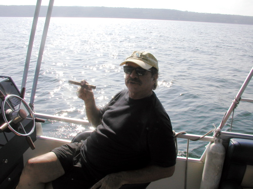Rick at the helm