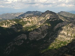 View north from the summit of Scotchman Peak, elevation 7,009' Cabinet Mountains, Idaho.