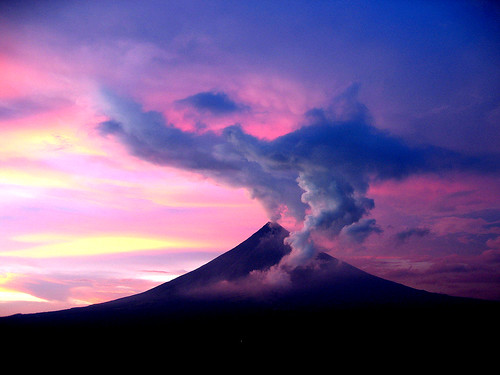 Mayon Volcano in Bicol, Philippines