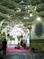 Mosque inside the bazar, Tehran, Iran (Fulvio's photos) Tags: canon iran kodak muslim praying mirrors mosque tehran moschea canoneos3 ektar preghiera specchi musulmano kodakektar100 ektar100