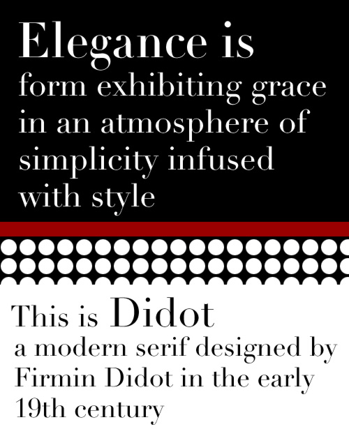 graphic of didot and bodoni fonts