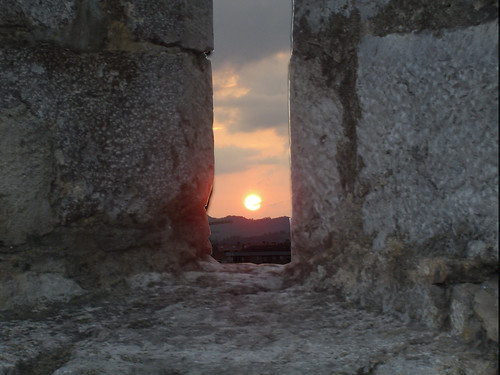 Sunset from inside a fort