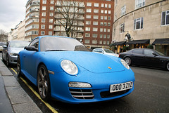 Matte blue Porsche Carrera S TechArt in London (Martijn Kapper) Tags: matte blue porsche 997 carreras carrera painted londen london carspotting autogespot martijn kapper sony alpha a100 saudi arabia arab middle east tuning techart