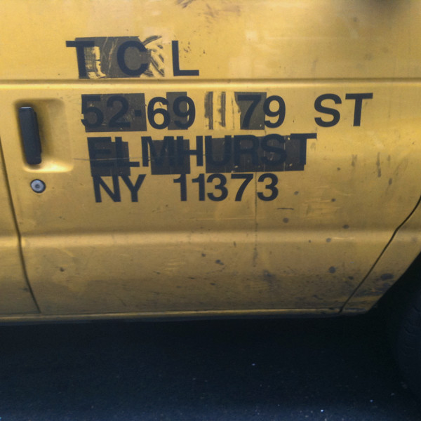 is there a name for this kind of distressed address van typography #walkingtoworktoday