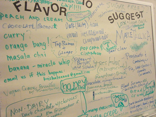 Suggestion board @ Scoops