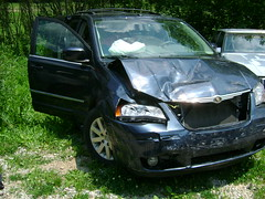 Van also in Accident