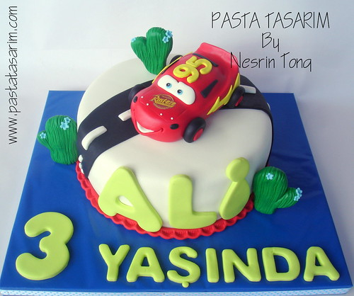 Disney Cars Lightning Mcqueen Birthday Cake Ali A Photo On