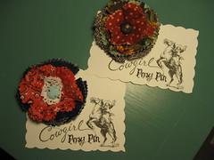 Cowgirl Swap: Posy Pins
