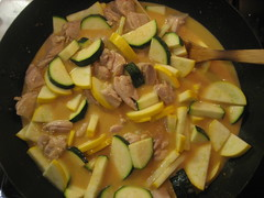 Thai red curry with chicken and squash