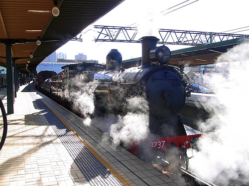 Steam Train at Central