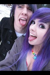 There adorable (Rox¥ Ru$h) Tags: neon sweet emo scene purplehair youtube desandnate diamondslightningboltz desnate