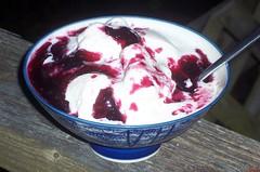 Blackcurrants and Ice Cream