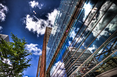 See the other side (Sasja Milenkovic) Tags: holland reflection building architecture clouds bomen nederland wolken denhaag boom drama reflexions 1022mm hdr 1022 gebouw lightroom reflectie photomatix 3exp hdrpicture canon50d achitectuur flickraward