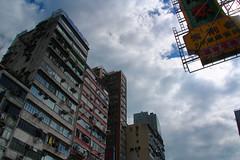 Asian (Shamefullyso) Tags: sky sign clouds buildings neon mongkok lightblablabla musictomyeyeslevel1