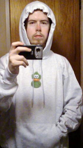 Adiumy hoodie hood up