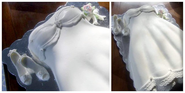 bridal shower cake - wedding dress