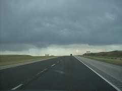 Driving South on Interstate 25 through Wyoming to Colorado July 2007 (Fran 53) Tags: vacation sky storm car clouds south july wyoming dakota deadwood 2007 thunderstorms southdakotathunderstorms