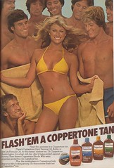 Flash 'em a Coppertone Tan (twitchery) Tags: sun beach vintage tan 70s lotion vintageads vintagebeauty
