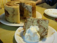Cocoa marble chiffon cake