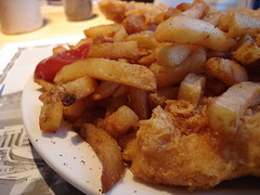 Cod and chips and grease
