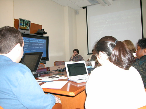 "SILS Doctoral Seminar Virtually Connects to LC • <a style=""font-size:0.8em;"" href=""http://www.flickr.com/photos/10729528@N03/954433889/"" target=""_blank"">View on Flickr</a>"