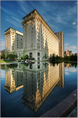Joseph Smith Memorial Building @ Salt Lake City (Joe Y Jiang) Tags: reflection building water d50 landscape utah nikon sigma saltlakecity mormon templesquare 1020 lds latterdaysaints familysearch instantfave superaplus aplusphoto superhearts