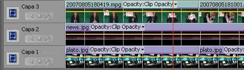 capas de vídeo