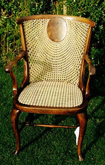 Sunrise back cane chair