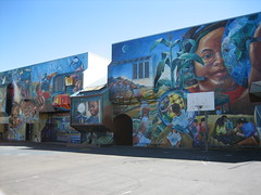 bryant elementary school mural, all of it (davidsilver) Tags: sf murals mission bryantelementaryschool blueskyinthemission