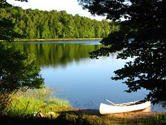(ET Photo Home!) Tags: camping trees camp lake reflection water canoe pines canoeing aplusphoto diamondclassphotoghrapher boselake